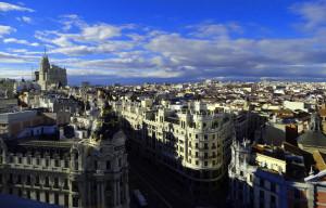 Vue de Madrid depuis la Azotea du Circulo de Bellas Artes