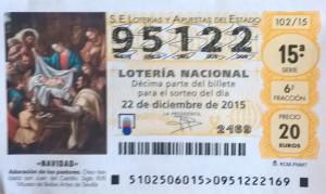 Et voilà à quoi ressemble un ticket de loterie