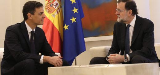 Pedro Sánchez et Mariano Rajoy