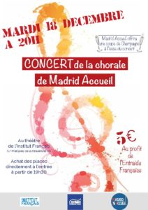 Concert Chorale Madrid Accueil